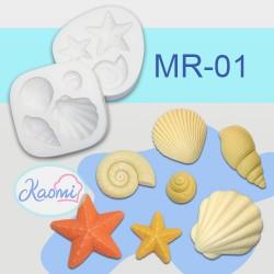 Shells and Starfish Molds – Code: MR-01